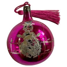Vintage Pink Mercury Glass Ball Ornament