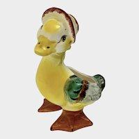 Vintage Hand Painted Duck Vase Anthropomorphic Easter Planter Japan