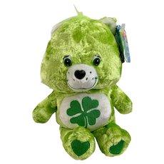 Care Bears Good Luck Bear Faux Jewel Nose Stuffed Plush Animal