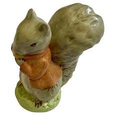 Royal Albert Timmy Tiptoes Beatrix Potter Squirrel Figurine 1989