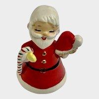 Mid-Century Napco Christmas Santa Claus Ceramic Bell Japan