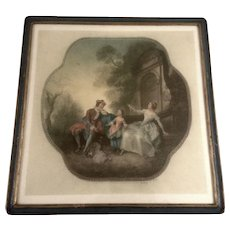 Arthur L Cox Mezzotint 'Innocence' Hand Painted Works on Paper Signed By Artist