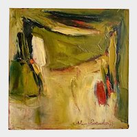 Alix Evendorff, Abstract Oil Painting From The Green Earth Series