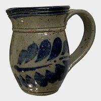 Small Blue Stoneware Creamer