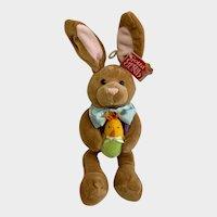Stuffed Bunny Rabbit Vintage Gund Plush Springtime Flapadoodles