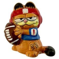 Garfield Football Figurine 1981 Enesco