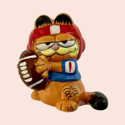 Garfield Football Figurine 1981 Enesco