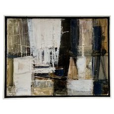 Jose (Jesse) M Medellin, Modernest Abstract Oil Painting Listed Texas Artist