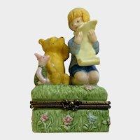 Disney Winnie The Pooh Bear Ceramic Trinket Box