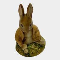 Royal Albert Benjamin Bunny Sat on a Bank Beatrix Potter Figurine 1989