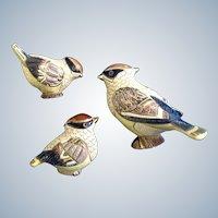 DeRosa Waxwing Artesania Rinconada Bird Figurines