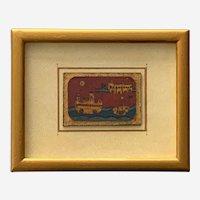 Maurice Bekaert, Sailing Ships Lake Como Italy Gold Framed Art Painting