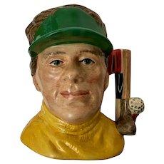 The Golfer Royal Doulton Mug England Character Toby Jug Man