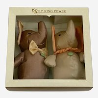 Baby Nursery Elephants Soft Stuffed Plush VR by King Power