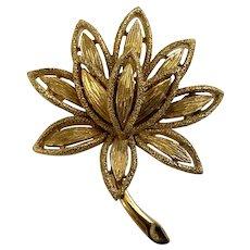 Golden Flower Avon Brooch Pin