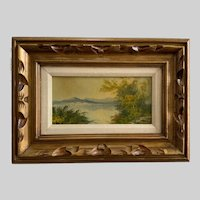 Peaking Through the Shoreline View Oil Painting Signed