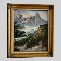 Lily Lathrop, Surreal Mountain Valley Oil Painting