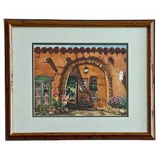 Annie Carter Southwestern Adobe Passage Watercolor Painting
