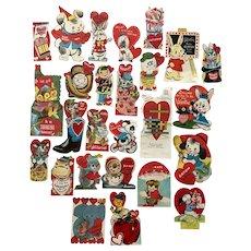 Twelve Mid-Century Valentine Day Cards Ephemera