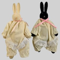 Vintage Department 56 Bunny O'Hare Collectibles Black & White Rabbits
