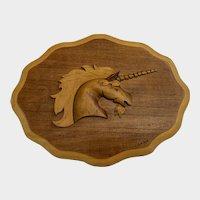 Dwain Nixon, Cutout Wood Unicorn Picture Wall Art Decor Texas Artist