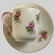 Miniature Shelley Bridal Rose Cup And Saucer Dollhouse Size