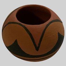 Dollhouse Lucy Rodela Tigua Native American Indian Pot Miniature Pottery Vase
