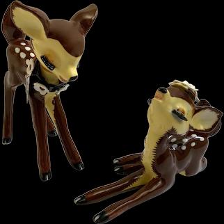 Vintage Napco Bambi Deer Figurines Dear Dearest S124A S124B