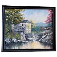 Grace G Middleton Wolf Pen Branch Mill of Kentucky Landscape Oil Painting