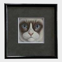 Braldt Bralds, Snowshoe Cat Face Rare Limited Edition Print