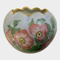 TK Count Thun Czechoslovakia Hand Painted Dogwood Floral Vase (1918-1945)