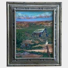 Roy Ragels, Landscape Meadowlark's Freedom View III Oil Painting