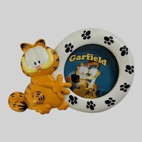 Vintage Garfield Cat Oval Picture Frame 3 Inch Photo Cartoon
