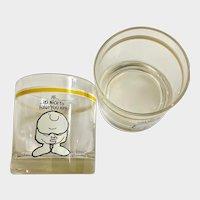 Ziggy Cartoon Drinking Glass 1977Universal Press Syndicate Set