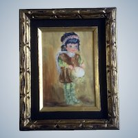 N Gare, Acrylic Painting on canvas, Little Drummer Boy, Signed by Artist