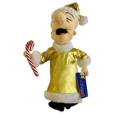 Vintage Mr. Magoo Christmas Santa Claus Stuffed Plush