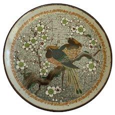 Golden Pheasants Dogwood Tree Birds Plate Old Oriental Ironstone Transferware