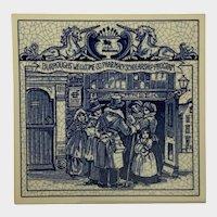 Vintage Delfts Schoonhaven Holland Tile Apothecary Shop