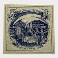 Vintage Delfts Schoonhaven Holland Tile Pharmacy