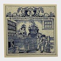 Vintage Delfts Schoonhaven Holland Tile Women Pharmacists