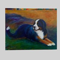B Ceast, Bernese Mountain Dog Portrait Oil Painting