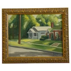 Mia Paterson, Neighborhood Landscape Oil Painting