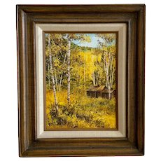Lidinsky, Autumn Tree Landscape Oil Painting