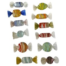 Vintage Lillian Vernon Wrapped Candies Art Glass Candy