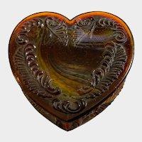 Vintage Boyd's Glass Heart Trinket Box