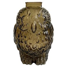 Witty Wise Old Owl Vintage Libbey Glass Bank