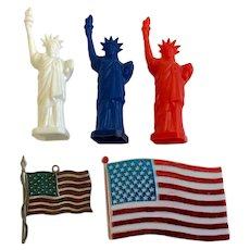 American Patriotic Cake Toppers Statue of Liberty Topps Chewing Gum