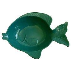 Large Fish Serving Bowl Ceramic Stoneware Summer
