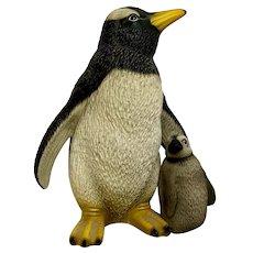 Penguin & Chick Harvey Knox Kingdom Collection Global Art Ceramic Figurine