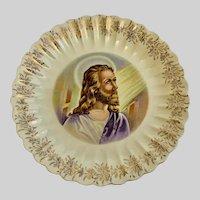 Vintage Jesus Plate Sanders Nashville USA Pottery